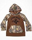 John Deere Toddler-Boys' 1837 Camo Deer Head Hooded Sweatshirt Brown 2T