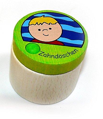 Zahndöschen, Junge 35 x 35 x 35 NEU Milchzahndose Kinderzahndose Holz Zahndöschen Hess-Spielzeug