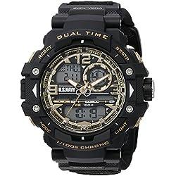 Wrist Armor Men's 'U.S. Navy' Quartz Black Casual Watch (Model: 37400019)