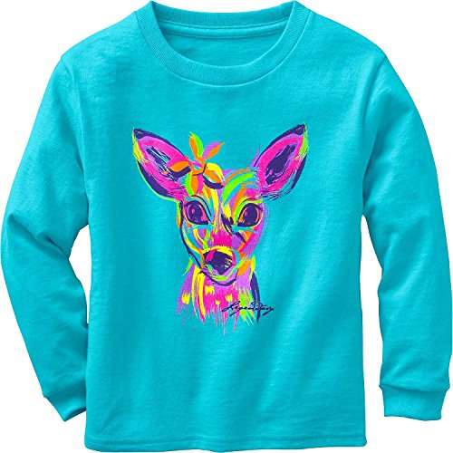 Legendary Whitetails Toddler Girls Radiant Fawn L/S Tee Glacier 4T (Whitetail Fawn)