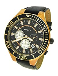 DKNY CHRONOGRAPH LEATHER 50M MENS WATCH - NY1454