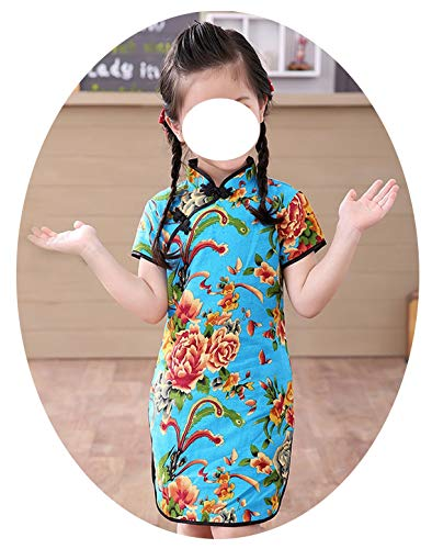 Baby Girl Chi-Pao Short Sleeve Dresses Chinese Children