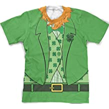 Men's bearded Leprechaun T-shirt Funny Saint Patrick's Day Irish Outfit Tee L