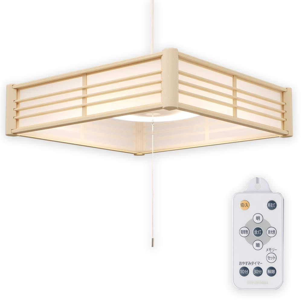 アイリスオーヤマ LED ペンダントライト 12畳 調光 調色 和風