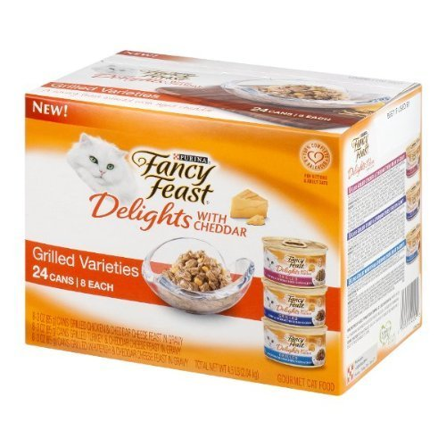 Purina Fancy Feast Delights With Cheddar Gourmet Cat Food Gr