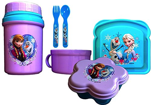 Disney Frozen Thermal Drink Complete Lunch Gift Set 4 Piece Lunch Gift Set Includes Utensils DISNEYLAND SURVIVAL KIT
