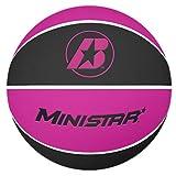 Baden Mini Rubber Basketball, Black/Pink, Size 3