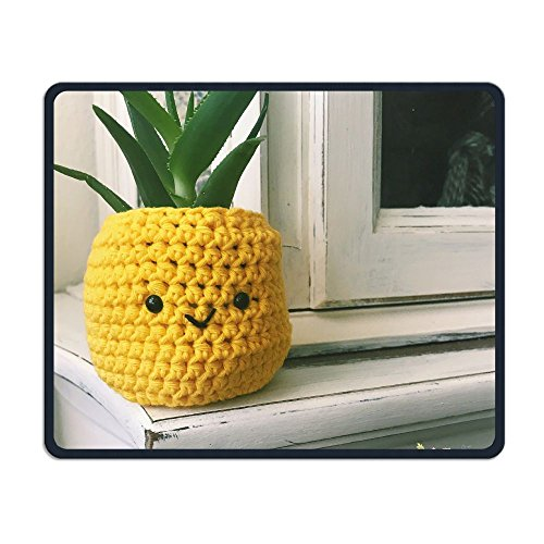 Price comparison product image Pineapple Planter Office Rectangle Non-Slip Rubber Mouse Pad Retro Gaming Mouse Pad for Laptop Displays Tablet Keyboard