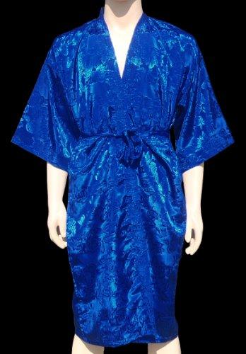 Bleu Kimono Peignoir Robe Robe de chambre Robe Nuit
