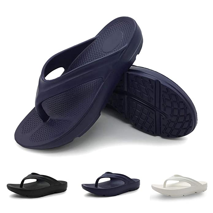 Funkymonkey Women's Thong Flip Flop Ultra Soft Arch Support Sandals by Funkymonkey