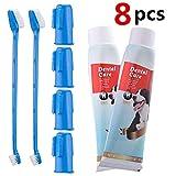 CooZero Dog Dental Care Kit, 2 Pack Dog Toothpaste and Dog Toothbrush Set