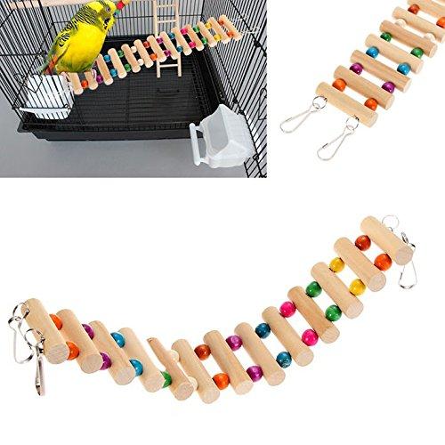 Accessories Drawbridge Bridge Wooden Singing Cockatiel Parrot Toys 02 Small Birds Toys Pet Toy