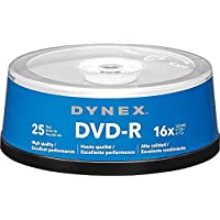 Dynex 25-Pack 16x DVD-R Disc Spindle (Blue/Gray)