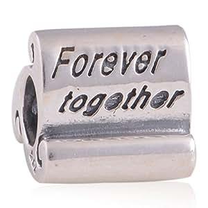 """General Gifts - Accesorios de joyería - """"siempre juntos"""" 925 plata encanto / para pandora, biagi, chamilia, troll y más pulseras de cuentas"""