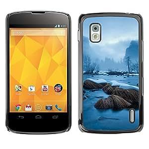 YiPhone /// Prima de resorte delgada de la cubierta del caso de Shell Armor - Snowy River - LG Nexus 4 E960