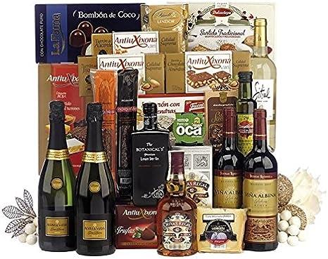Lote de navidad con whisky Chivas Regal 12 años, queso, ibéricos, licores y dulces navideños: Amazon.es: Hogar