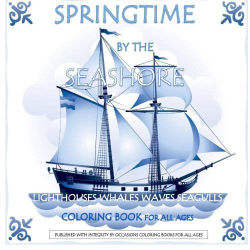 Springtime by the Seashore Nautical Coloring Book