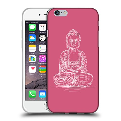 GoGoMobile Coque de Protection TPU Silicone Case pour // Q10010614 Bouddha assis 12 Rougir // Apple iPhone 6 PLUS 5.5""
