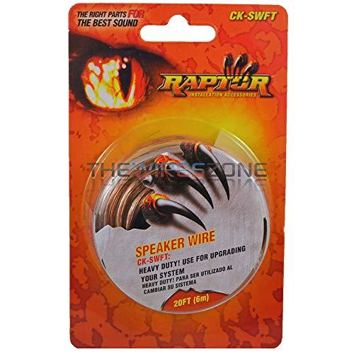 Raptor CK-SWFT Transparent 18 Gauge 18/2 20ft Speaker Wire Car Audio(10pack) by Raptor (Image #1)