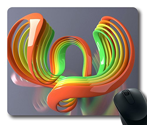 Abstract 3D 43 Gaming Mouse Pad Personalized Hot Oblong Shaped Mouse Mat Design Natural Eco Rubber Durable Computer Desk Stationery Accessories Mouse Pads For Gift - Support Wired Wireless or Bluetooth Mouse