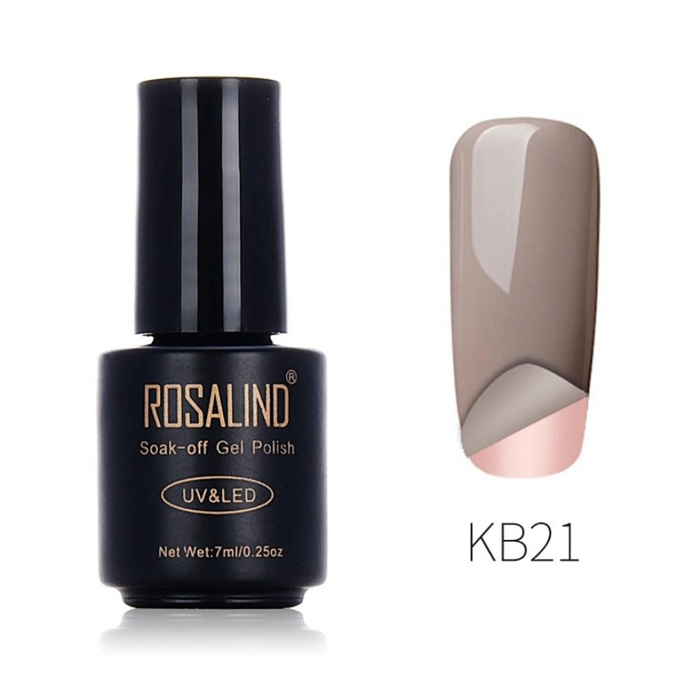 Nail Polish UV Gel,ROSALIND 7ML Gel Nail Polish Nail Art Nail Gel Polish UV LED Gel Polish Semi Permanent Varnish (A)
