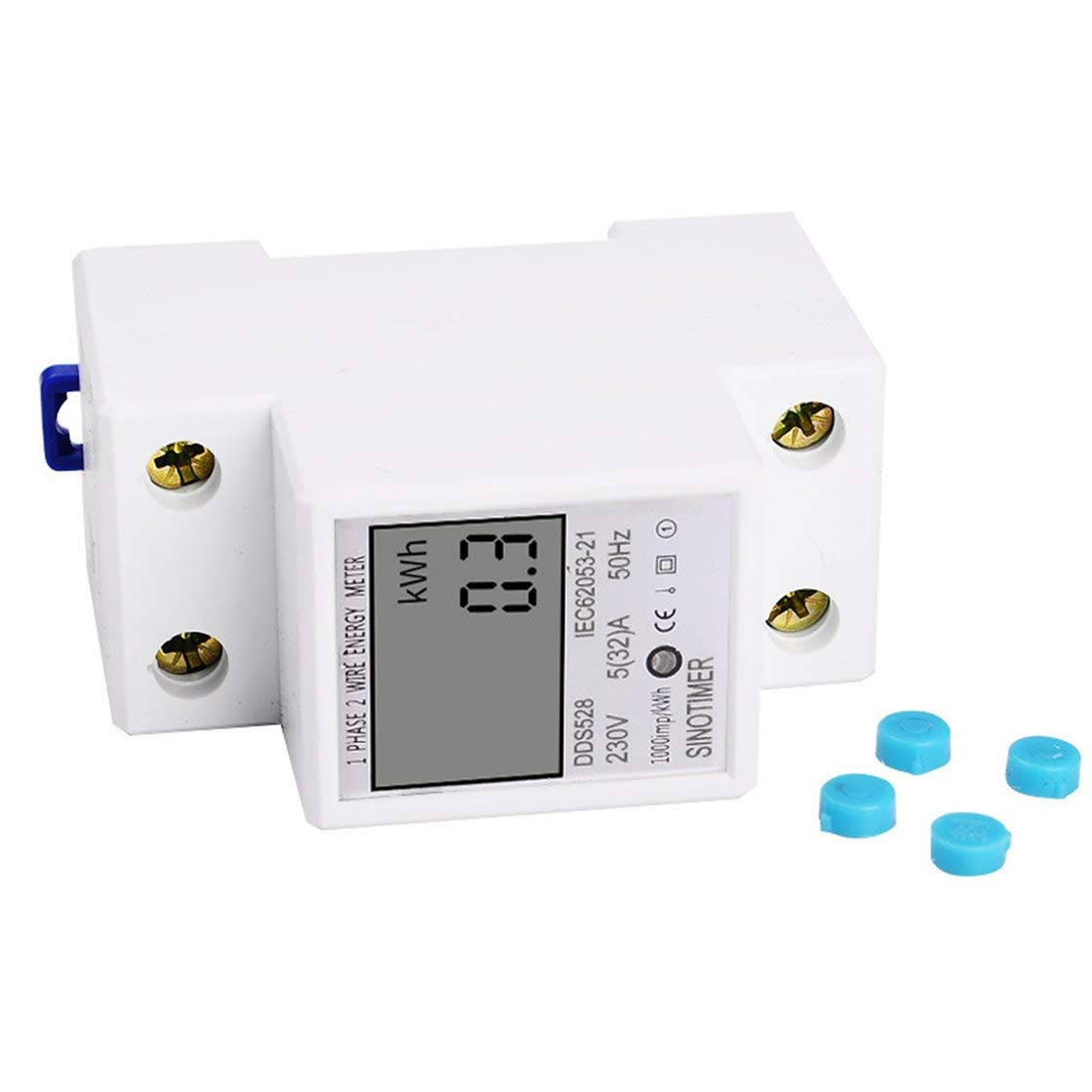 SINOTIMER Consommation Energie Watt Amp Volt Mètre Analyseur KWh AC 230V Moniteur d'utilisation de l'électricité numérique Wattmètre Gwendoll