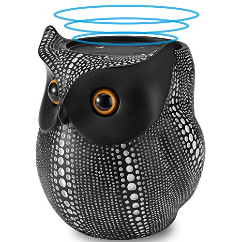 Stand Statue - Crafted Owl Statue Holder Stand for Amazon Echo Dot Speaker, BFF for Alexa Round Dot Speaker, Black Dots Owl Decor for Living Room Kitchen Bathroom Office Cabinet TV Stand Bookself Nightstands