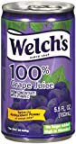 Welch's 100% Juice, Concord Grape, No Sugar Added, 5.5 Ounce On the Go Cans (Pack of 48)