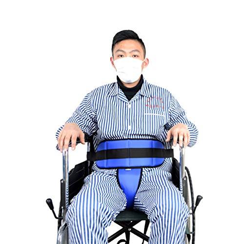 調節可能な車椅子拘束ベルト、T字型拘束ベルト/スリップ車椅子用シートベルト、安全ストラップボディサポート、胴囲65-110 CMに適して