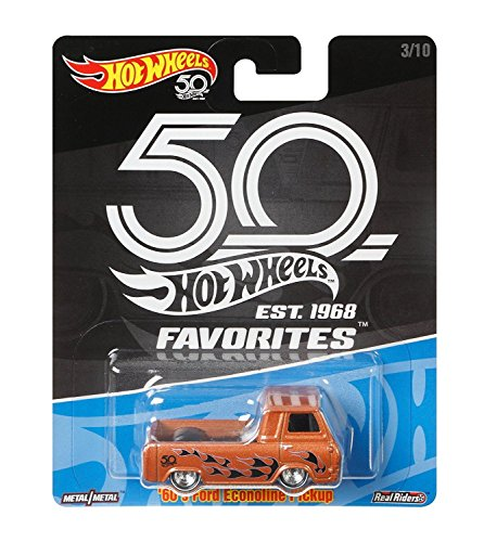 2018 Hot Wheels 50th Anniversary Favorites ''60's Ford Econoline Pickup 1/64 Diecast (Ford Econoline Pickup)