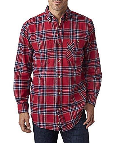 Backpacker Men's Yarn-Dyed Flannel Shirt 3XL Blue Stuart