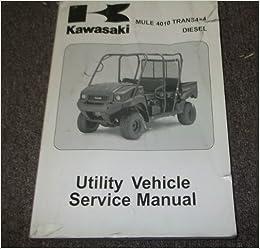 2009 Kawasaki MULE 4010 TRANS 4X4 DIESEL UTILITY Service