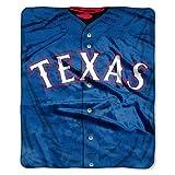 MLB Texas Rangers Jersey Raschel Throw, 50 x 60-Inch