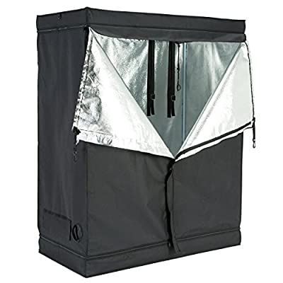 SUNCOO Indoor Hydroponic Grow Tent Plant Growing Room 600D Reflective Mylar Non Toxic Hut