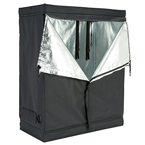 51ZGgz0y0ZL - iPyarmid 600D Indoor Grow Tent Room Reflective Mylar Hydroponic Non Toxic Hut