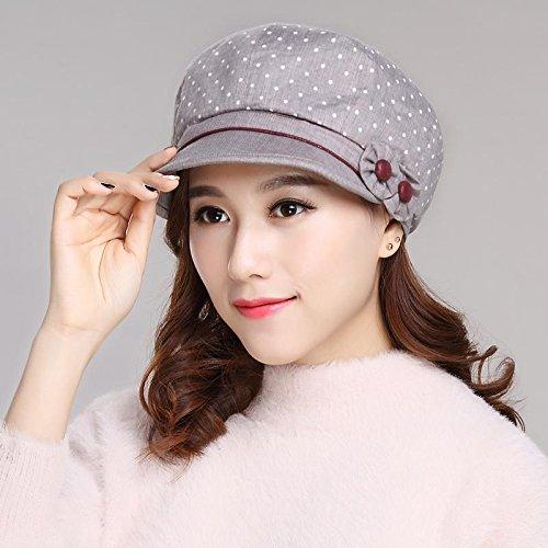 Otoño Gris gorras Bailey 54 Para De Sombrero Resorte 58cm Visera El Son Marea Código Elegante Zhangyong Sol Tapa Twqd0ZTv