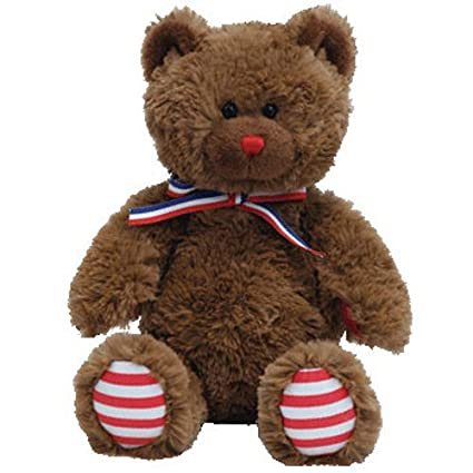 3684dbe0981 Amazon.com  Ty Beanie Babies Uncle Sam - Bear Brown  Toys   Games