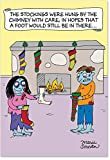 1189 Zombie Stockings Unique Humor Christmas Greeting Card with Envelope