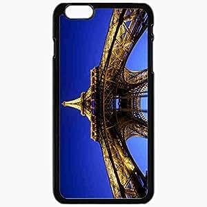 Unique Design Fashion Protective Back Cover For iPhone 6 Plus Case Slim (5.5 inch) Eiffel Tower Paris Lighting Evening France Black