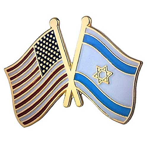 Backwoods Barnaby USA-Israel American Crossed Friendship Flags Lapel Pin