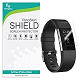 [8-PACK] RinoGear for Fitbit Charge 2 Screen Protector [Active Protection] Flexible HD Crystal Clear Anti-Bubble Film