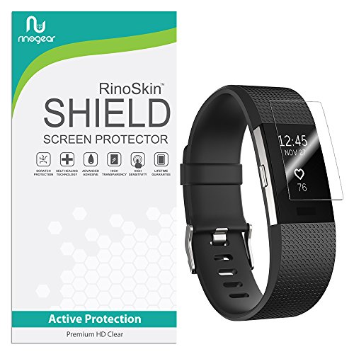 RinoGear for Fitbit Charge 2 Screen Protector [8-Pack] Case Friendly Screen Protector for Fitbit Charge 2 Accessory Full Coverage Clear Film