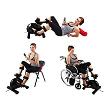 Konliking Electric Physical therapy Rehabilitation Exerciser Bike indoor Recumbent Pedal Exerciser Desk Bicycle Workout Upright Bike Equipment Hand Arm Foot Leg Knee Training At Home 180 watt Power