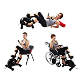 Konliking Electric Physical therapy Rehabilitation Exerciser Bike indoor Recumbent Pedal Exerciser Desk Bicycle Workout Upright Bike Equipment Hand Arm Foot Leg Knee Training At Home 180 watt Power Review