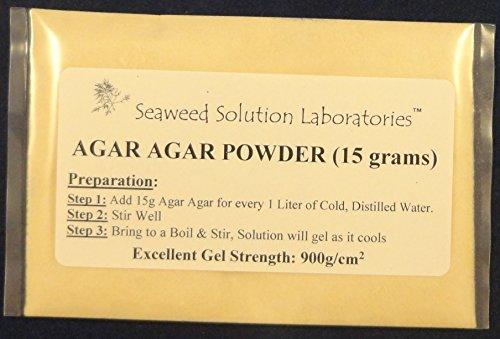 Agar Agar Powder - 15 grams, Laboratory Grade, Excellent Gel