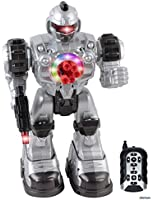Memtes® Remote Control Robot Toy, Shoots Soft Rubber Missiles, Lights and Sound, Walks, Talks, and Dances
