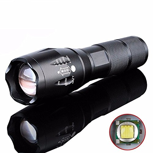 Flashlight T6 LED 18650 CREE 9000LM 5 Modes Zoomable Focus Torch Lamp - by Like (132 Zone Package)