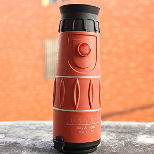 Meiyiu 26x52 High Definition Monocular Telescope for Outdoor Sport Hunting Camping Night Vision Orange