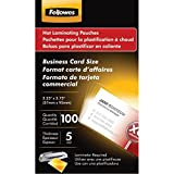 FELLOWES 52031 Business Card Laminating Pouches, 100 pk consumer electronics