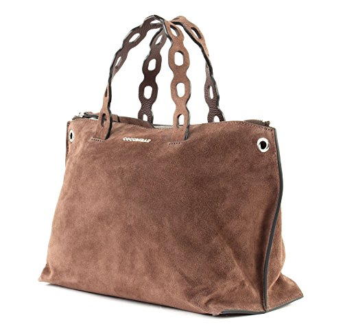 À Main Coccinelle Sac Suede Tabac Naive wBWRAqOT8